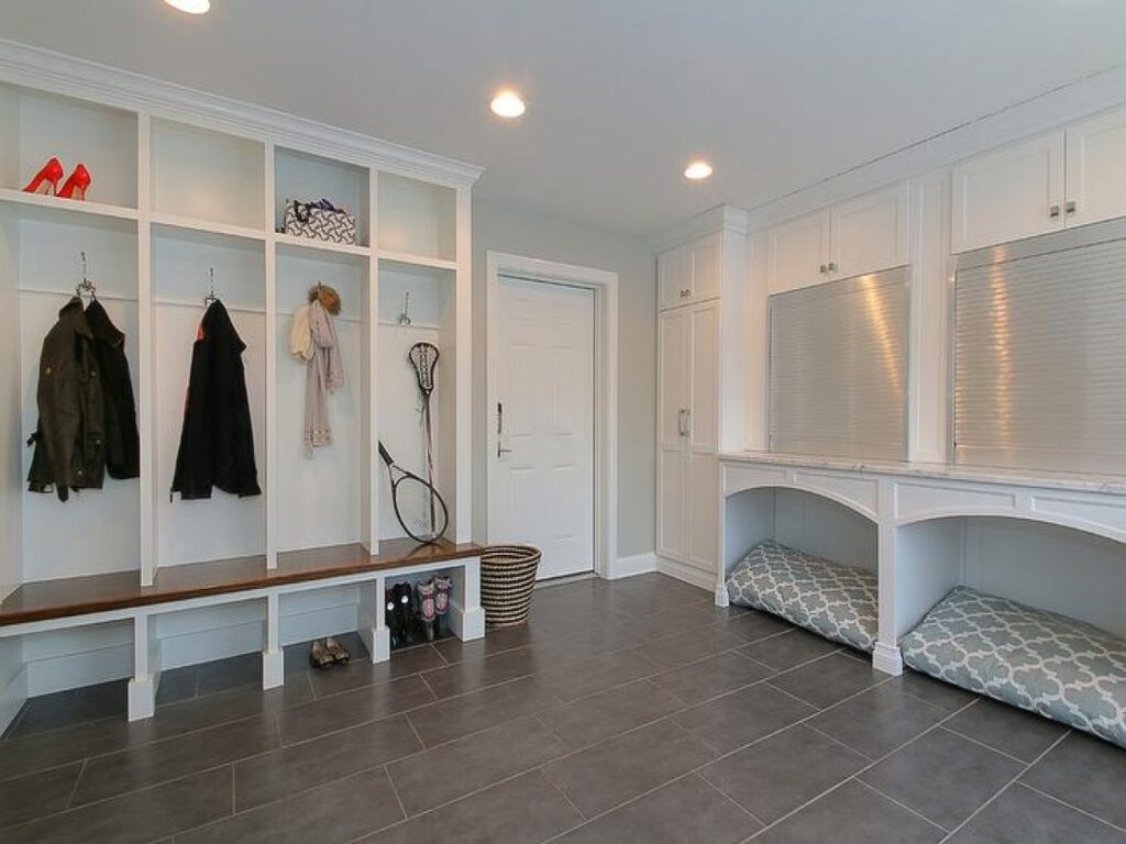 pet-friendly-mudroom-built-in-desk-aluminum-garage-doorjpg